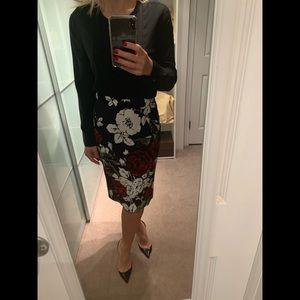 New Dolce&Gabbana MAMMA MIA ROSE pencil skirt 42